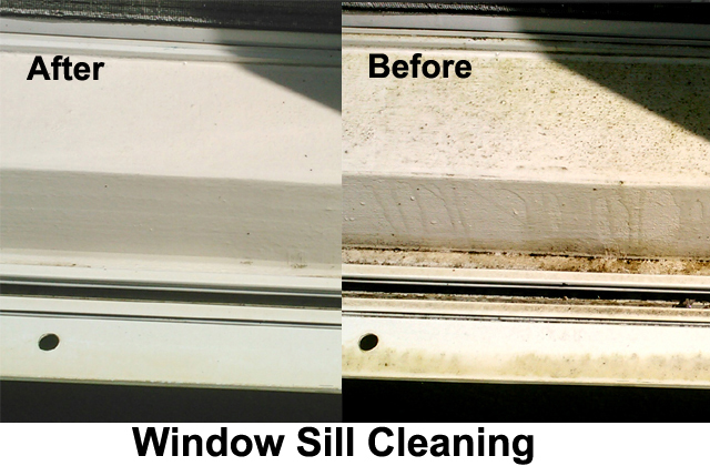Window Sill Cleaning